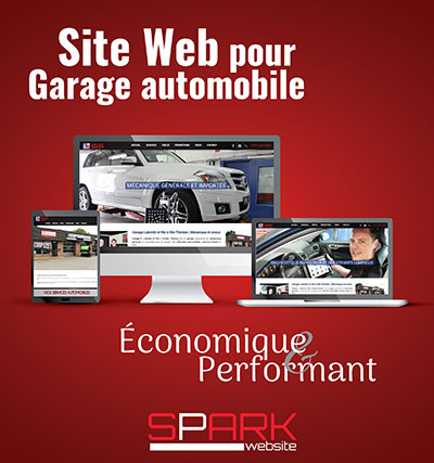Site web pour garage automobile SPARK
